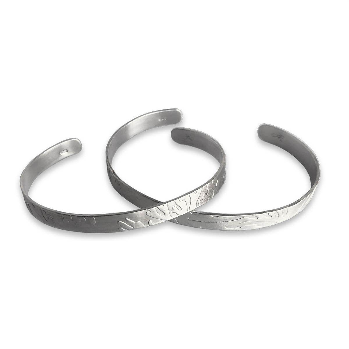 Coral Texture Sterling Silver Cuffs