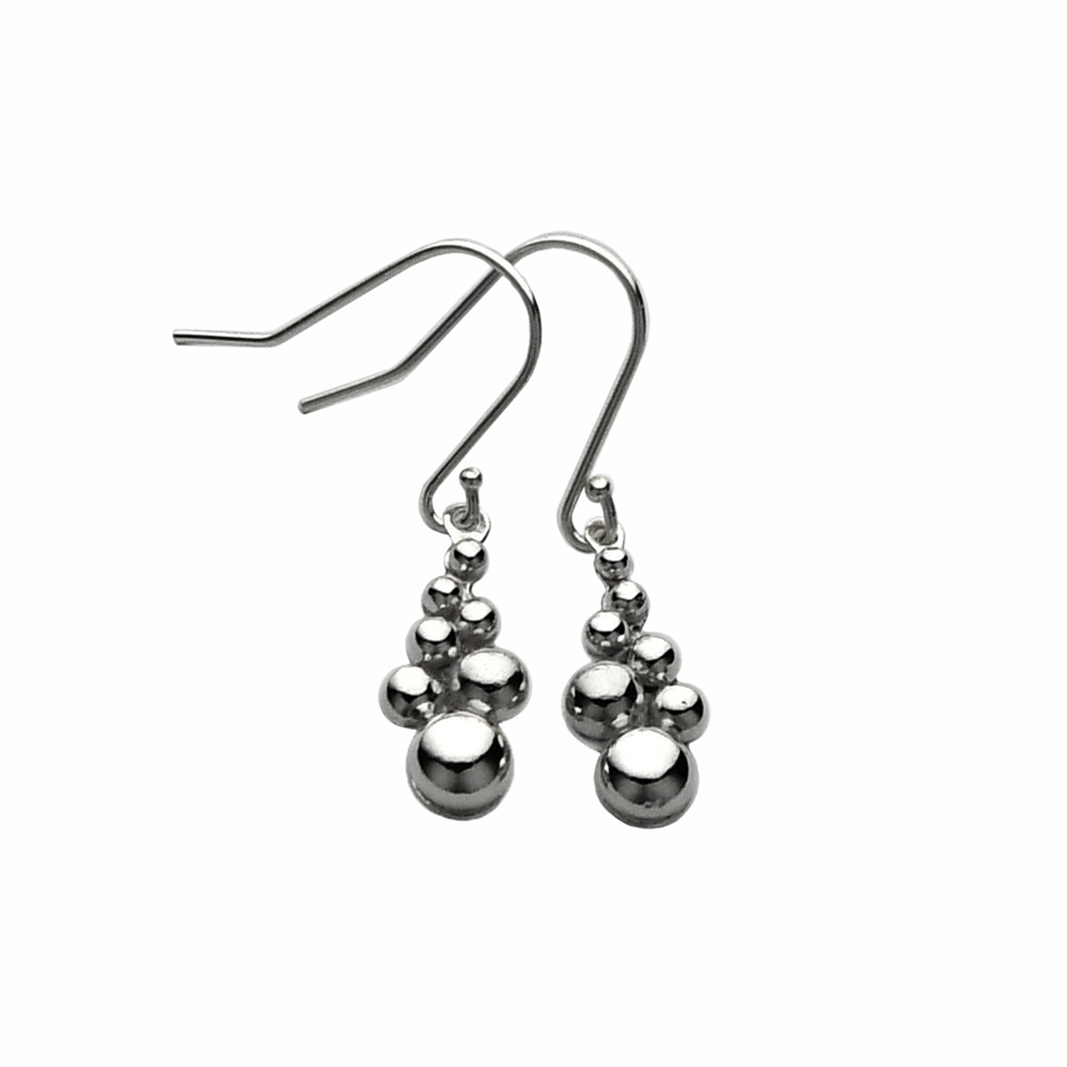 Silver Drop Earrings – Bubbles