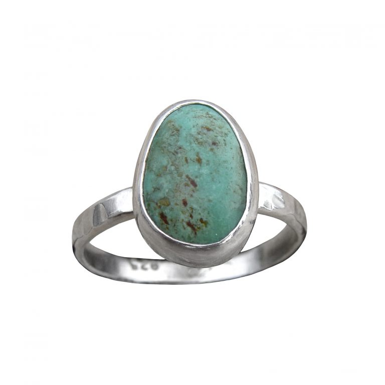 Kingman Turquoise Stacker Ring