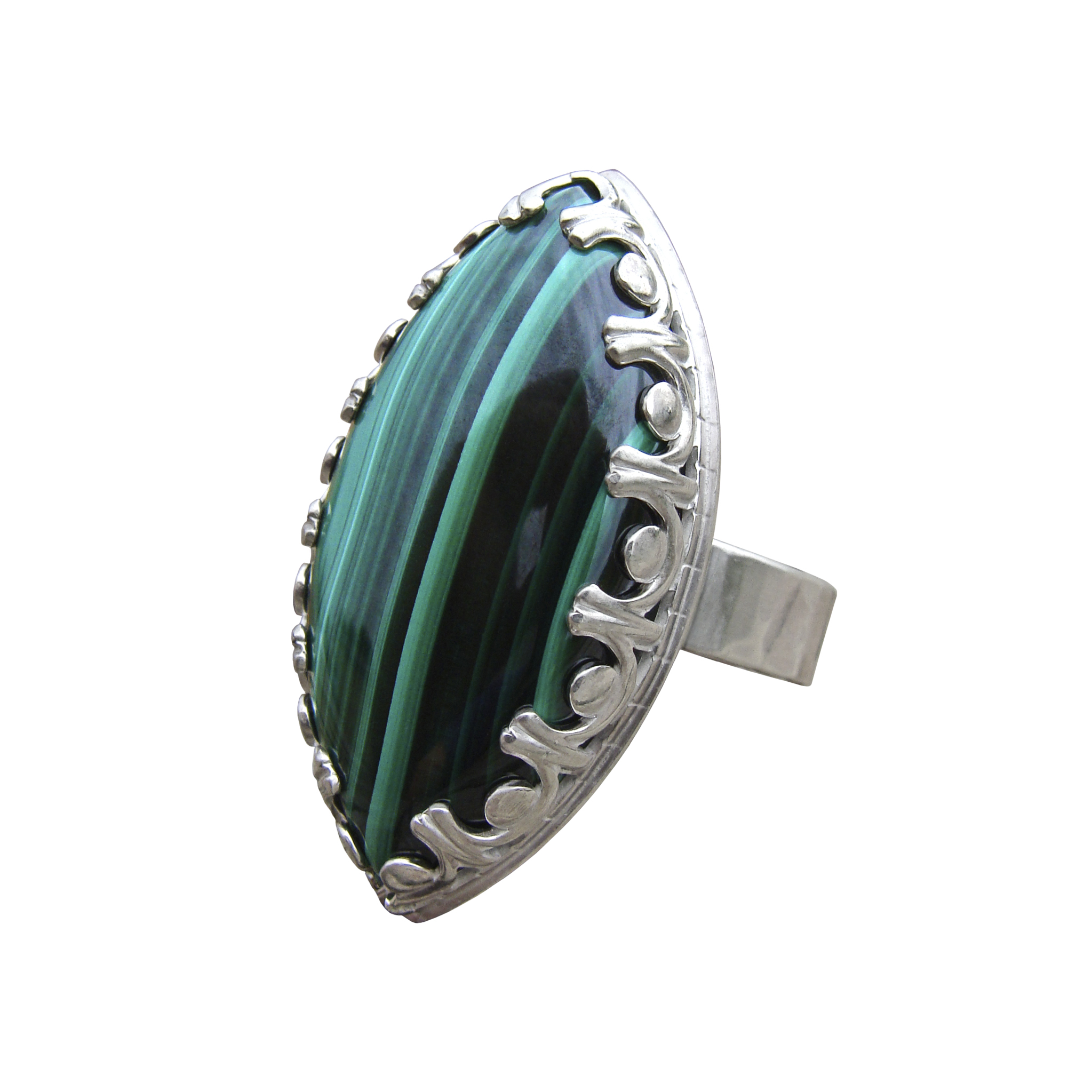 Malachite Marquise Ring