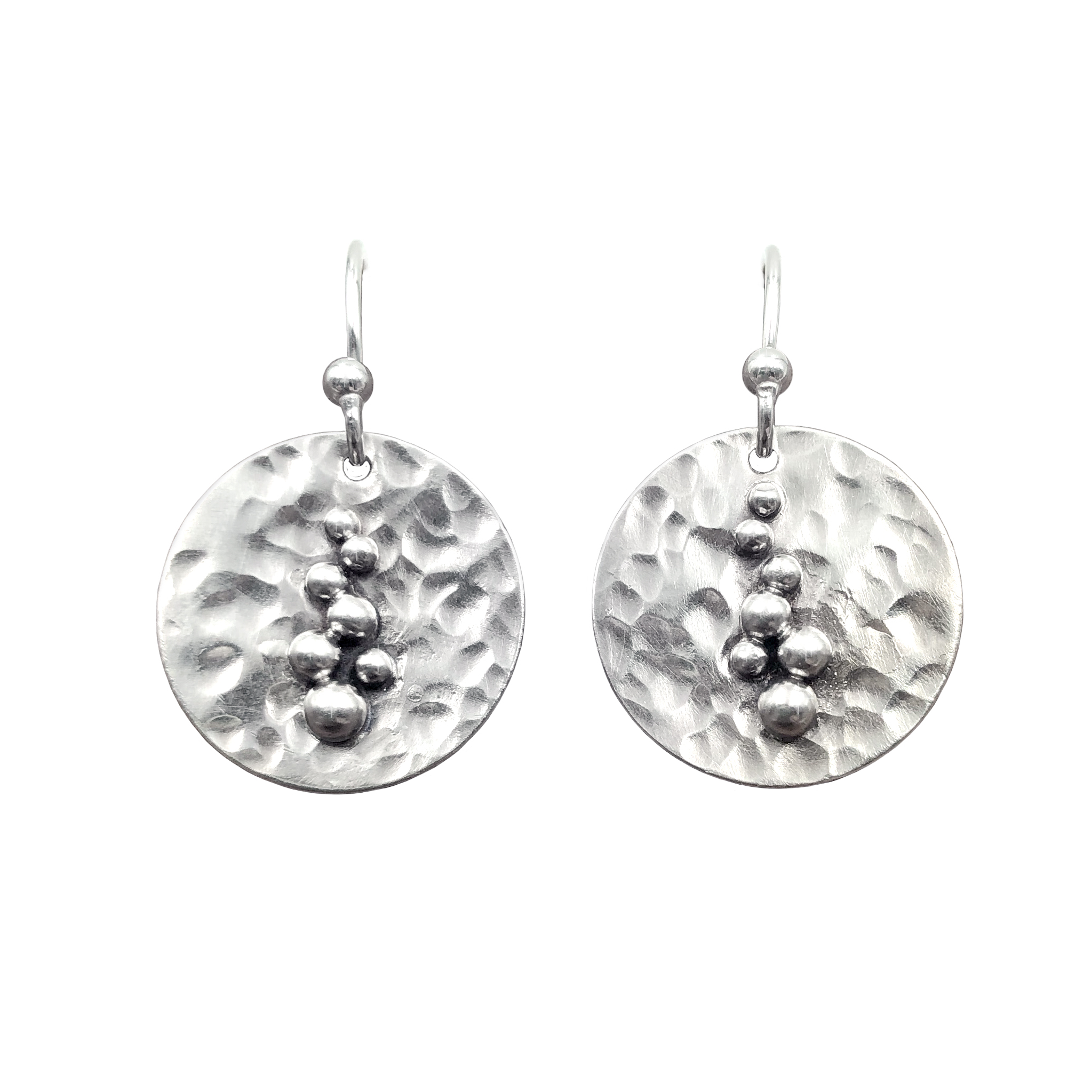 Small Round Hammered Bubble Earrings