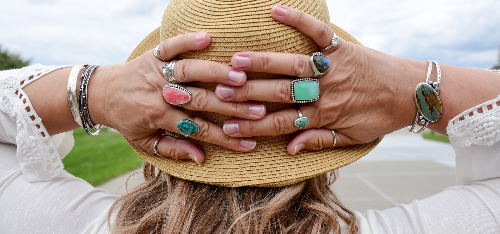 Beach bling rings and bracelets