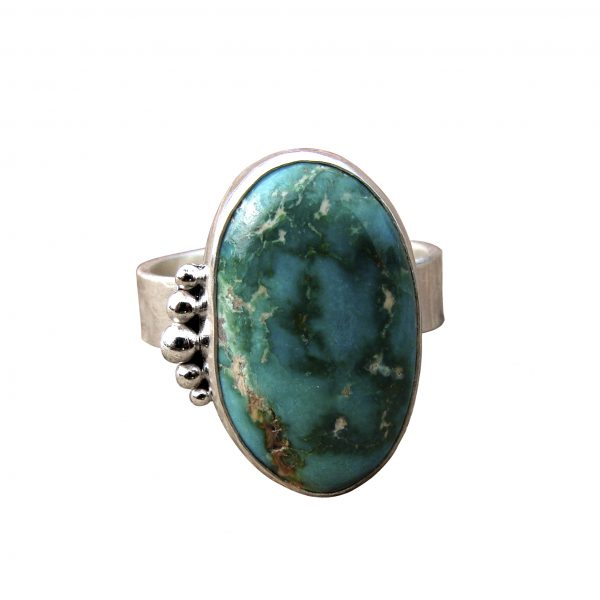 Fox Mine Turquoise Ring - front view