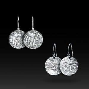 hammered-silver-earrings